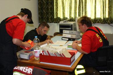 Vorbereitungen, Sandra Fischer, Urs Rieben, Fabian Huber