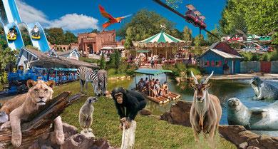 photomontage réalisé pour un parc de loisirs et animalier