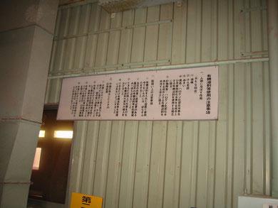 有機溶剤作業場所での表示