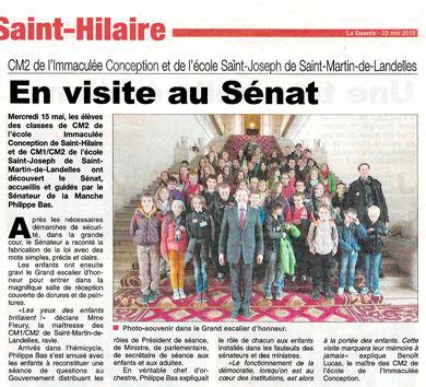 La Gazette de la Manche, 15.05.2013
