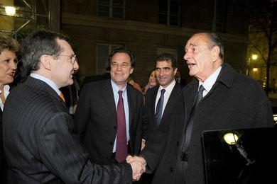 Jacques Chirac et Philippe Bas