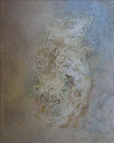 """""""RF2"""" technique mixte sur toile 81x100 cm"""