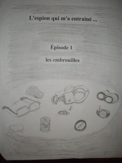 Premiere page de dossier, dessinée par Richoult