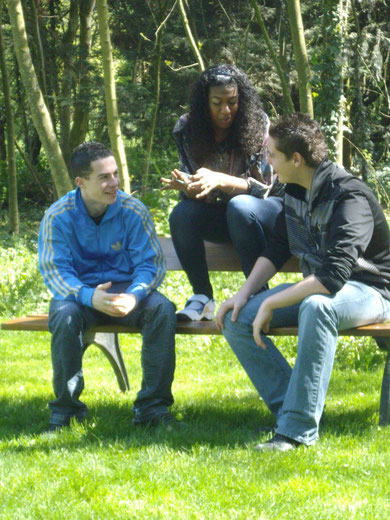 De gauche a droite : David, Morgane et Enzo.