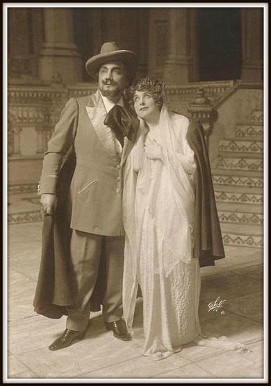 Gustave Charpentier JULIEN  (Julien) con Geraldine Farrar (Louise) - Metropolitan N.Y. 26.1.1914