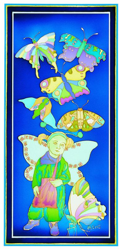 Bimba con farfalle