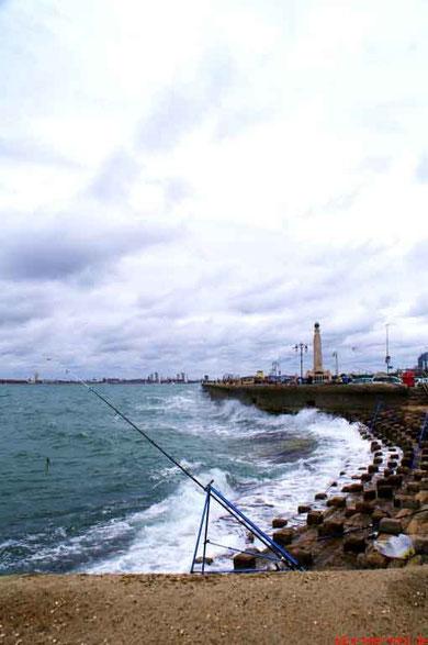 Ein bisschen stürmisch war es schon an Englands Küste, aber ich glaube, das gehört da einfach auch dazu. Bei schönem Wetter kann jeder...