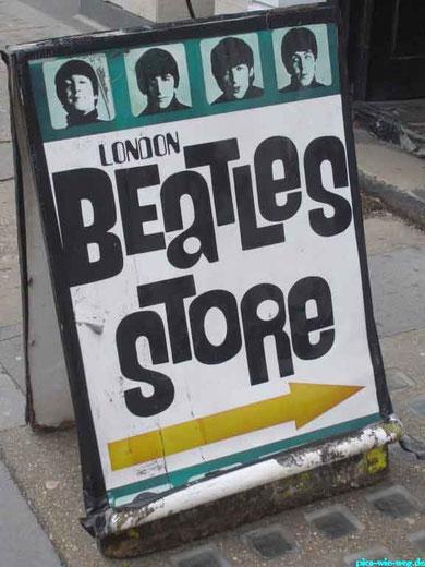 Die legendären Pilzköpfe aus Liverpool - auch mit London untrennbar verbunden
