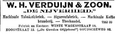 Rotterdamsch Nieuwsblad, 19 Juni 1896, advertentie van VERDUIJN