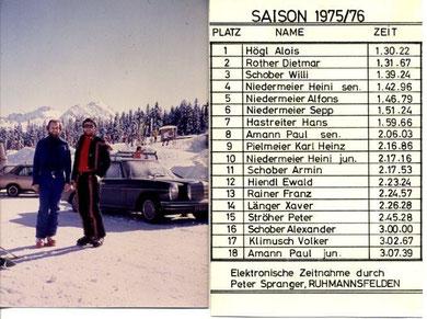 Vereinsmeisterschaft 1975/76