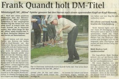 Frank Quandt wurde in Erbach Deutscher Meister auf dem System Beton