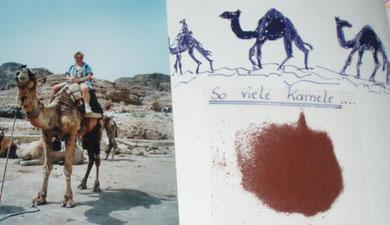 Ein Kamelritt  -  Sand aus Petra