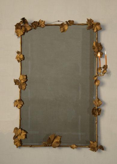 Bronze et miroir, 125 x 82 cm