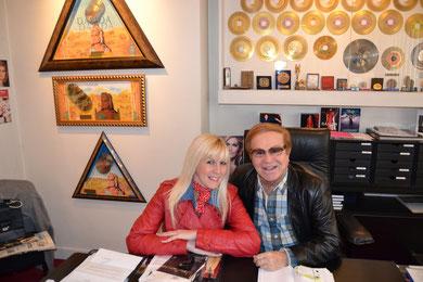 """Kéty Lucy et le grand producteur """" ORLANDO"""" frère de Dalida et producteur des Vagabonds) 2012"""