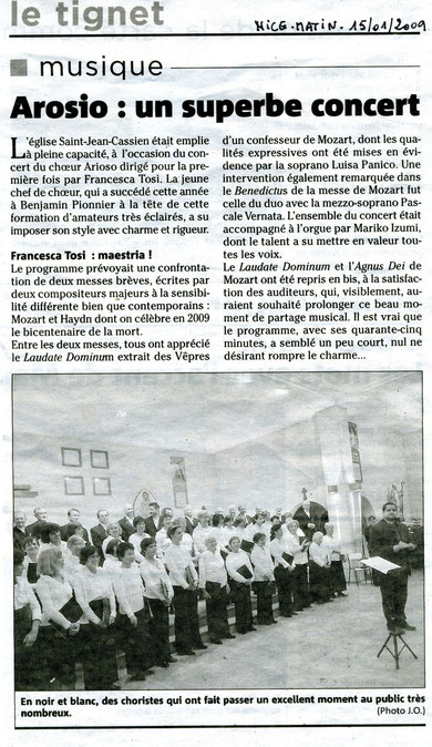 Concert Le Tignet 11 janvier 2009