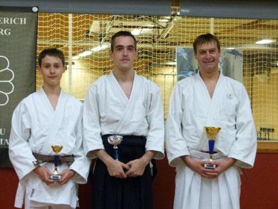 (de gauche à droite) WEYLAND Noé, CORTEBEECK Damien, VERMEERSCH Andy
