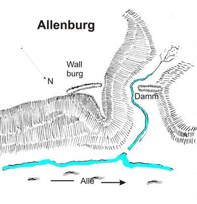 План 1 замка до 1260 г.