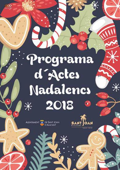 rograma del Mercado de Navidad en Sant Joan de Alacant