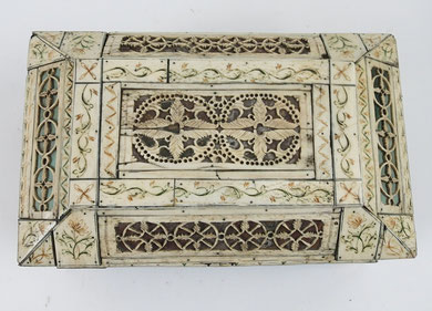 19th century Russian Bone Casket