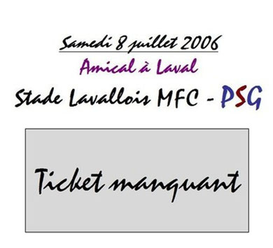 Ticket  Laval-PSG  2006-07