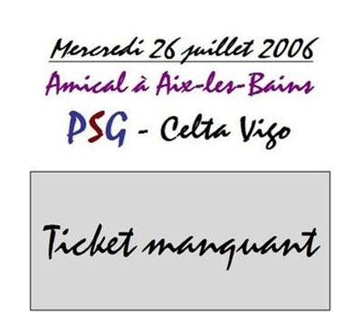 Ticket  PSG-Celta Vigo  2006-07