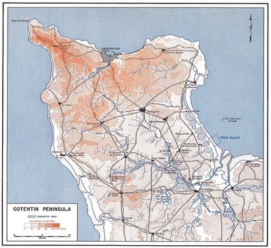 Halbinsel Cotentin - Topographie