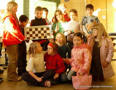 Gruppenbild von einigen Schülern