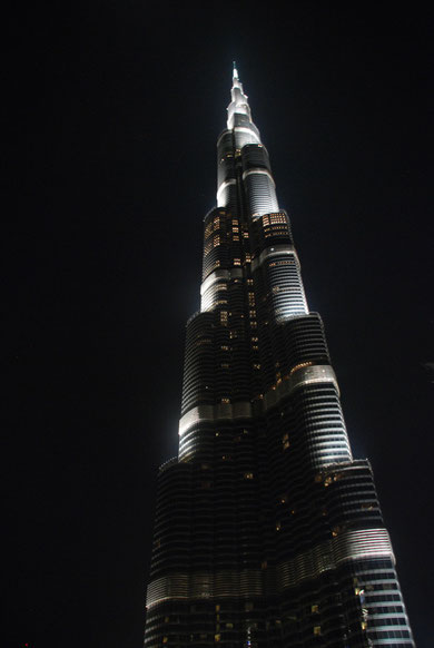 Burj Dubai bei Nacht
