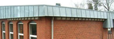 Die im Frühjahr 2009 angebrachte Kolonie von Mauerseglerkästen an der Holstenschule.