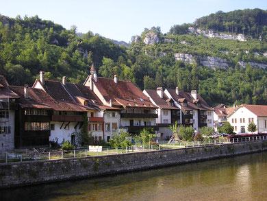 culturele oude stadjes in het kanton Jura