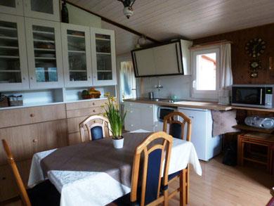keuken en woonkamer voor 5 personen