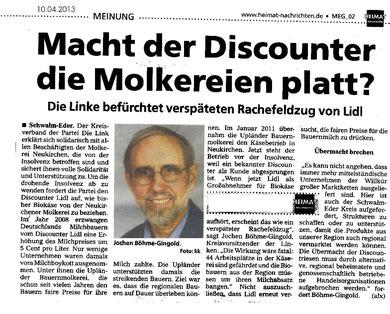 Heimatnachrichten 10.04.2013