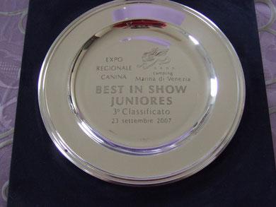 Il piatto del 3°posto B.I.S. Junior 2007