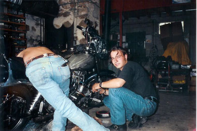 Cacol en route pour le Cap Nord en 1995