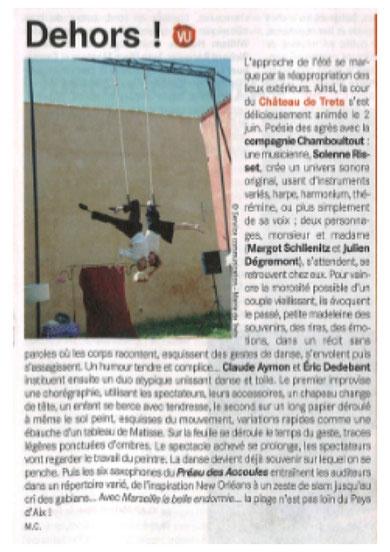 Article Zibéline, juin/juillet 2012