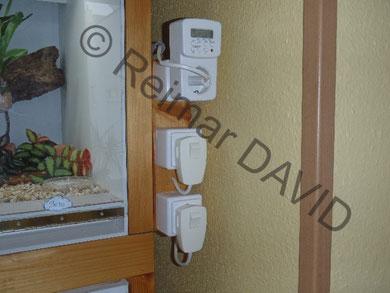Zeitschaltuhr für Licht, Schalter für Beregnung und Abwasser