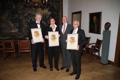 Bernd Steingräber, Waltraud Aßelmann, Hermann Weßlau (Vorsitzender VDUBV), Ingo Wald (Foto: H. Pischke)