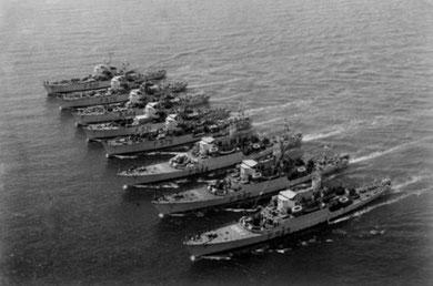 navi in formazione