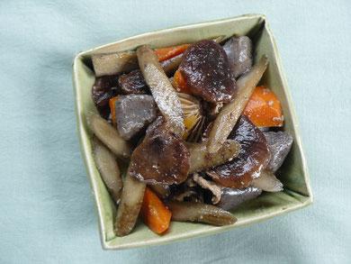 平良の椎茸で煮しめ