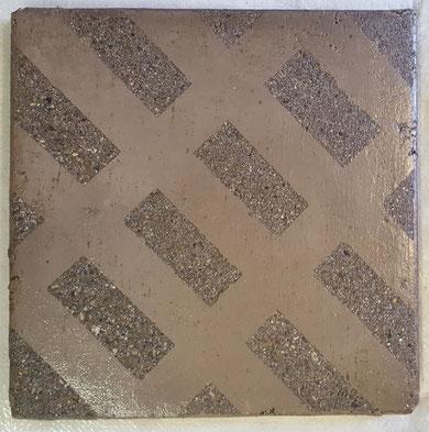 Hier wurde ein Muster in den Zement Decorboden ein Gestrahlt.