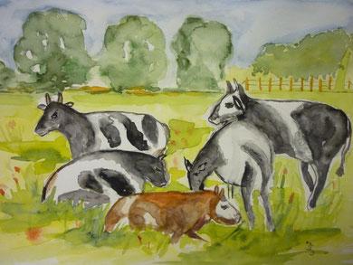 nach Vorlage - die merkwürdigen Kühe von Brodersby- Dez. 2012