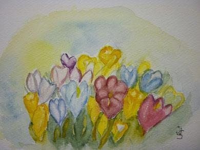 Frühlingserwachen - nach Vorlage 3/ 2013