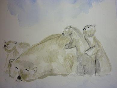 Eisbärenfamilie nach Vorlage Februar 2012