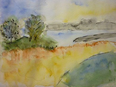 Gisela Hofmann- Jost:    stimmungsvolle Landschaft nach Marianne Pietsch