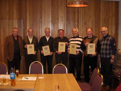 Ehrung langjähriger Mitglieder - Hauptversammlung 2010