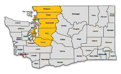 Invisible Fence service in Whatcom County, Skagit County, Snohomish County, Island County, King County, Kitsap County, Pierce County and north Thurston County in Western Washington.