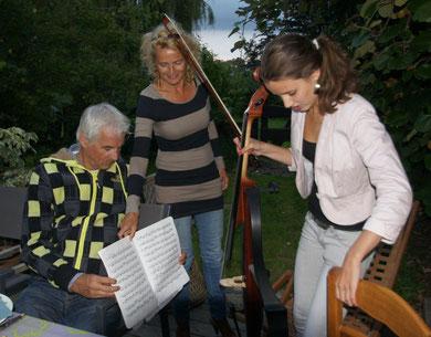 Chiel Meijering, Huba de Graaf et leur fille Blom, été 2011