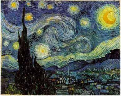 Van Gogh. Noche estrellada (1889)