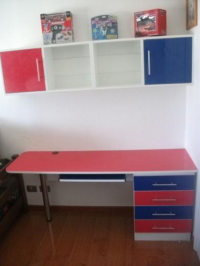 Muebles infantiles juveniles mr muebles modulares para hogar oficina y negocios for Escritorio infantil