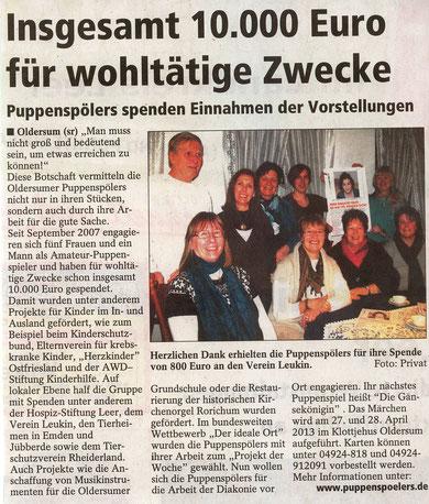 SonntagsReport v. 13.03.2013